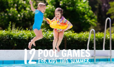 12 Fantastic and Fun Pool Games for Kids. Make a big splash this summer with these fun water games. Pool games for kids | water games | summer activities for kids | www.ezebreezy.com