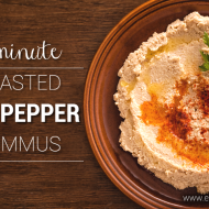 5 Minute Roasted Red Pepper Hummus