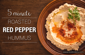 5 Minute Red Pepper Hummus