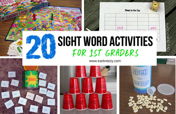 20 Sight Word Activities For First Graders