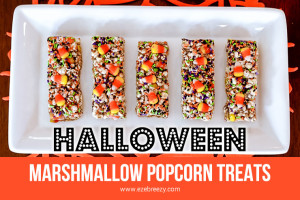 Halloween Marshmallow Popcorn Treats