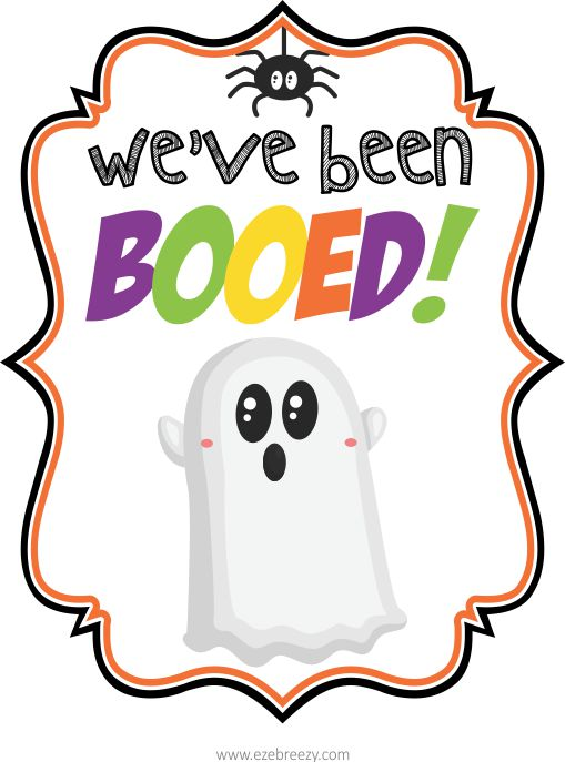 FREE Halloween Printable - You've Been Booed Printable. Nothing puts a smile on a kids face than finding a You've Been BOOed surprise at the front door! | ezeBreezy.com