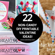 Non-candy DIY Printable Valentine Ideas!