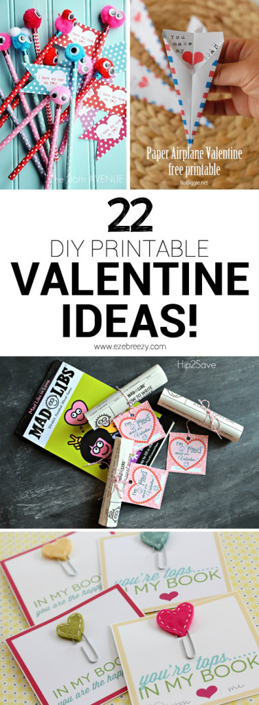 non-candy diy printable valentine ideas_pinterest
