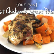 One Pan Roast Chicken & Sweet Potatoes