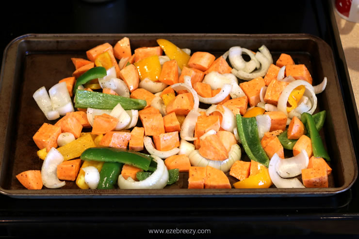 one pan roast chicken and sweet potatoes 4