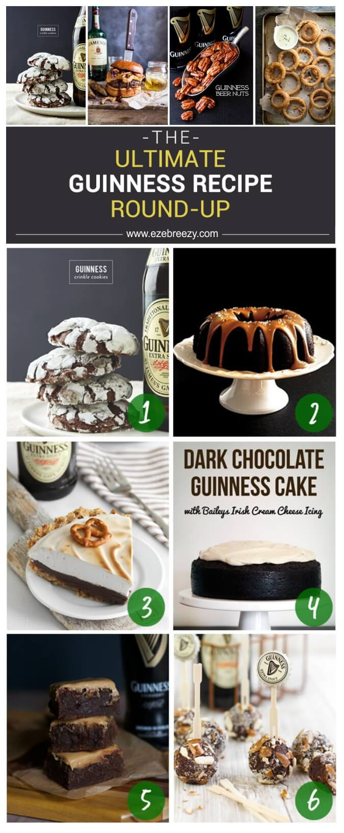 30 AMAZING Guinness Recipes to make your St. Patrick's Day even happier! | www.ezebreezy.com