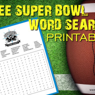 Free Super Bowl Word Search Printable