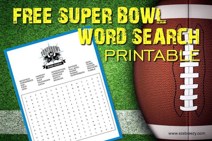 Magnificent Free Super Bowl Word Search Printable Interior Design Ideas Helimdqseriescom