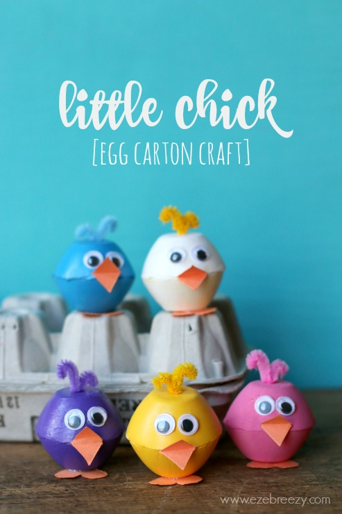 little chick egg carton craft