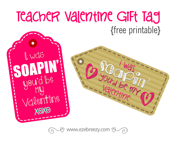 Teacher Valentine Gift Tag