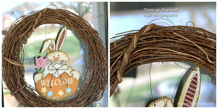 DIY Easter wreath closeup