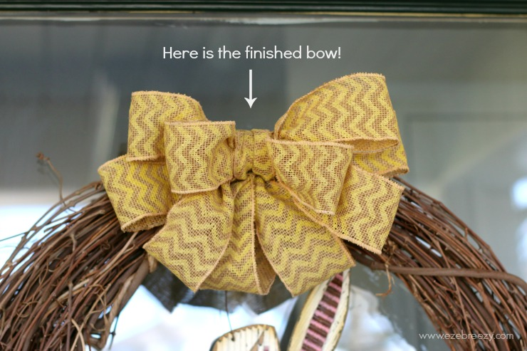 DIY Easter Wreath Bow