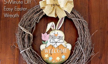 DIY Easy Easter Wreath slider
