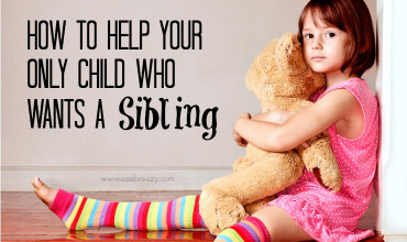 only child wants sibling slider