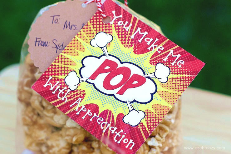 Teacher Appreciation Gift Popcorn Closeup