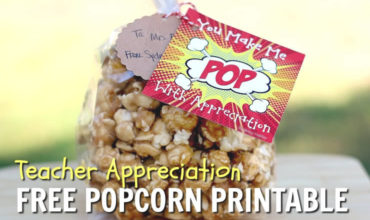 Teacher Appreciation Gift Popcorn