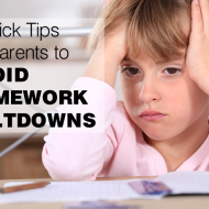 4 Quick Tips For Parents To Prevent A Homework Meltdown