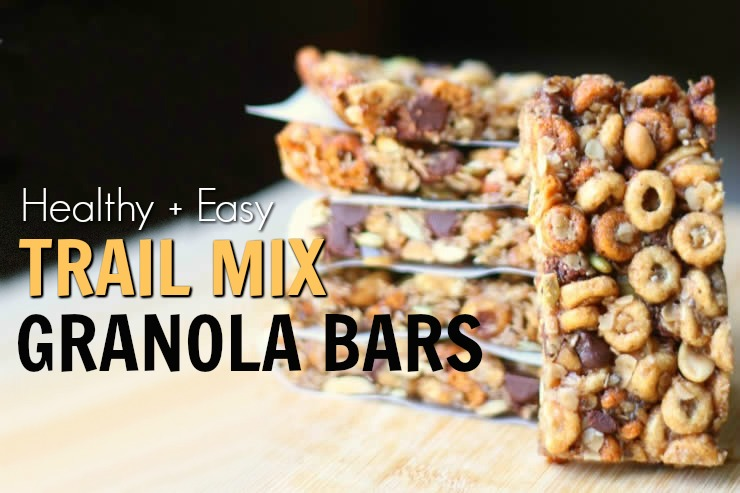 Healthy & Easy Trail Mix Granola Bars