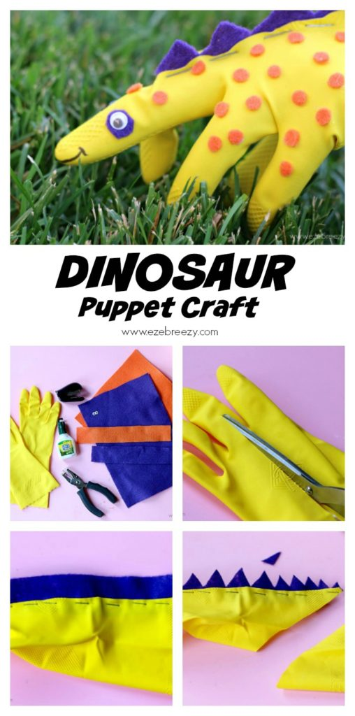 Dinosaur Craft Puppet Pin