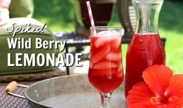 This Spiked Wild Berry Lemonade will hit the spot on hot summer days. Lemonade with tea infused with hibiscus and wild berries and a touch of rum make this summer favorite fun and refreshing.
