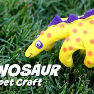 Dinosaur Craft Puppet For Kids