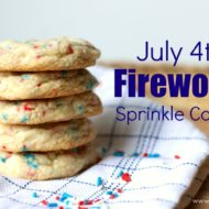 July 4th Fireworks Sprinkle Cookies Recipe