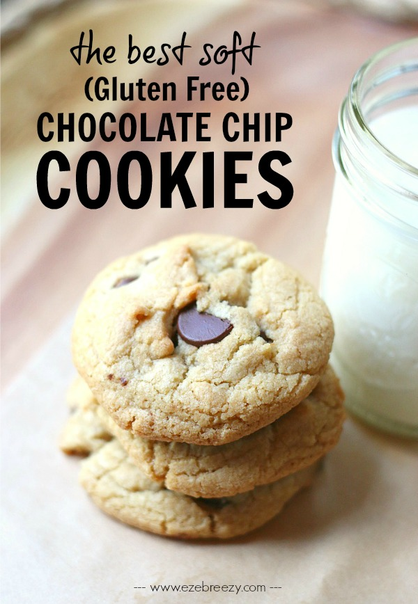 The BEST SOFT AND CHEWY Chocolate Chip Cookie - and it just so happens to be gluten free! | www.ezebreezy.com