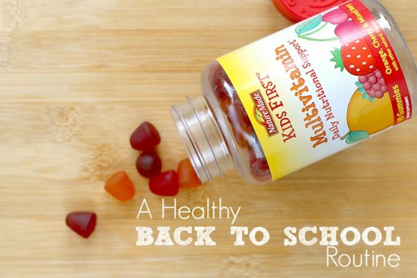 Make school mornings healthy and stress-free! with this morning routine checklist and nature made.