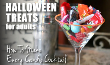 These candy cocktails put the perfect spin on your favorite sweet treat! Fun chart includes 60 recipes for candy-inspired drinks including chocolates like Snickers and Reeses's Peanut Butter Cups (yay!), as well as other candies like Lemonheads and Starburst. | ezebreezy.com