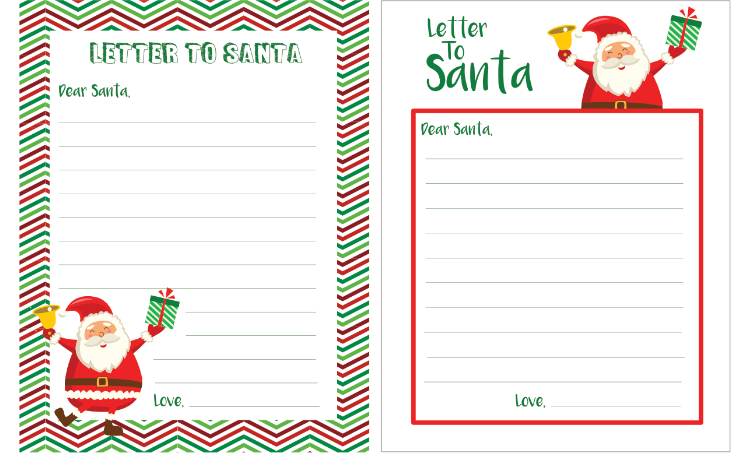 FREE PRINTABLE LETTER TO SANTA - Free Printable Download | www.ezebreezy.com