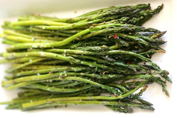 Balsamic Browned Butter Roasted Asparagus