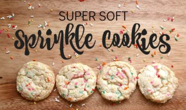 This simple sprinkle cookie recipe uses cake mix and is easy to make and Oh-so DELICIOUS | www.ezebreezy.com || cake mix cookie recipe