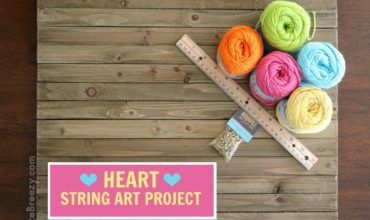 Easy Heart String Art Craft