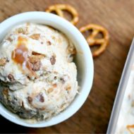 No Churn Salted Caramel Toffee Ice Cream