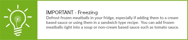 Meatball cooking tip - frozen meatballs