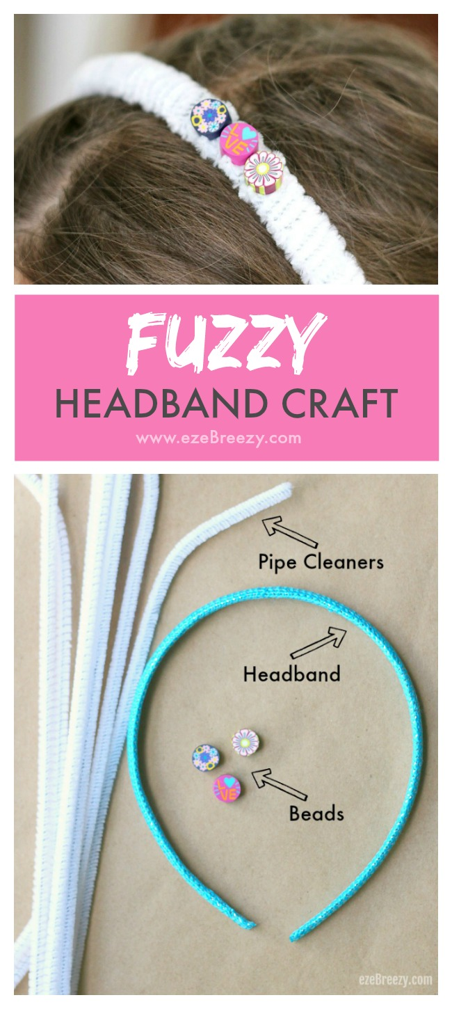 Fun and Easy DIY Headband Craft for Kids! Uses only 3 simple materials and is a blast for kids to make!