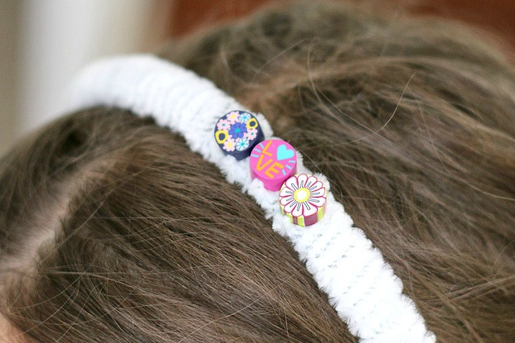 DIY Fuzzy Headband Craft