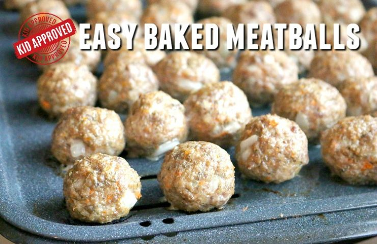 Easy and Kid-Approved Baked Meatballs