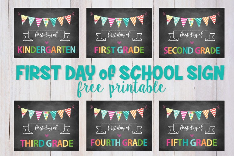 First day of school sign printable for you to download and print! A fun way to capture the memory of your child's first day of school! | ezeBreezy.com