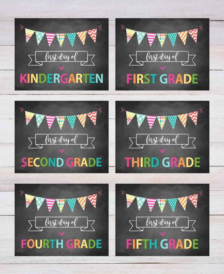 image relating to First Day of School Sign Printable named Initially Working day Of Faculty Indicator Printable